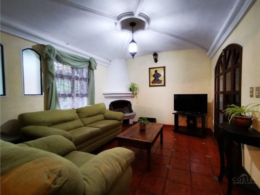 town house de 3 habitaciones en condominio gravileas antigua gt