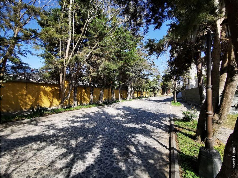 terreno de 200mts2 en san pedro el panorama en antigua guatemala