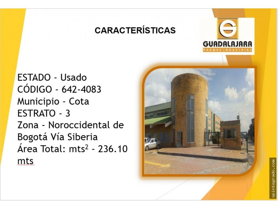 local comercial con oficinas via cota calle 80