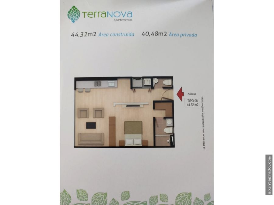 apartamento chia km 13 via chia cota t2 3 p 4 buenas especificaciones