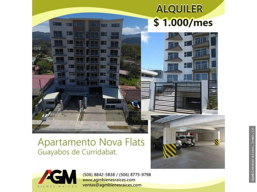 condominio nova flats alquiler apartamento