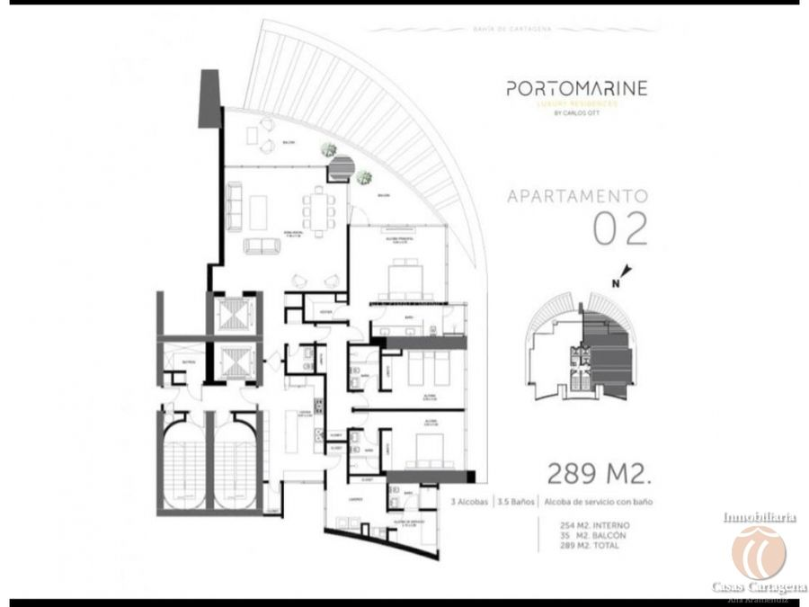 venta apartamento portomarine cartagena p22