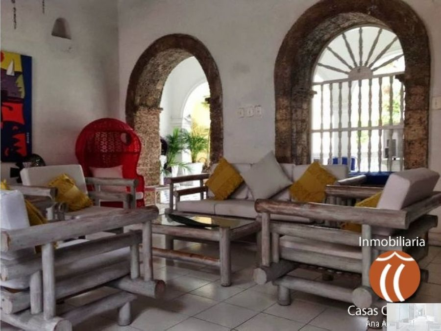 arriendo por dias casa en centro historico cartagena