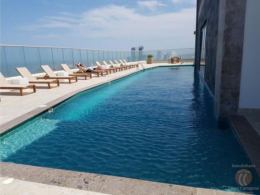 venta apartamento 1 alcoba palmetto beach p31 vista al mar cartagena