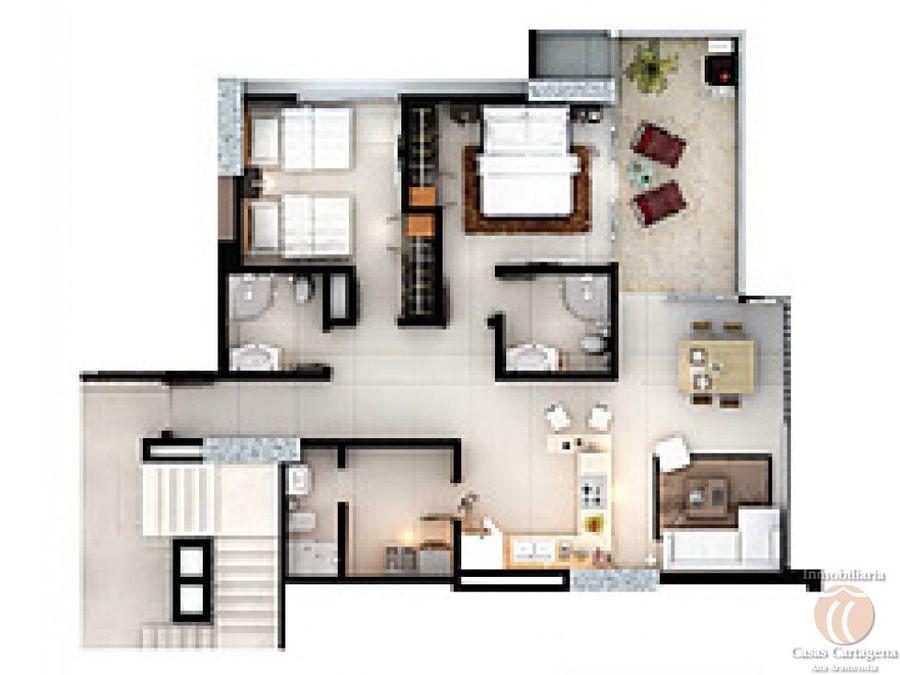 venta apartamento 2 alc ed torino cgena
