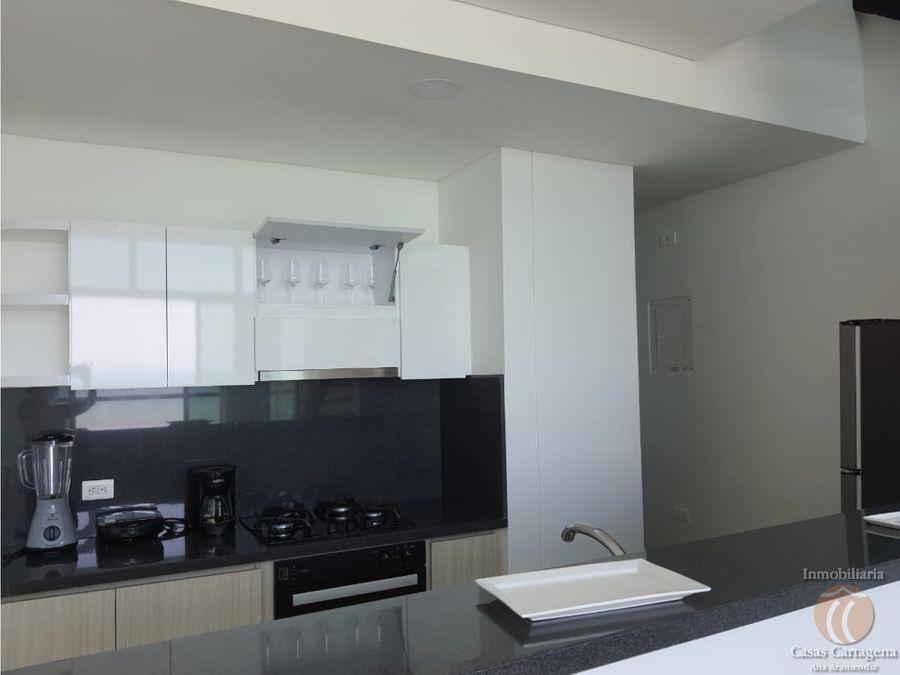 apartamento de 1 alcoba bocagrande con vista al mar edificio nuevo