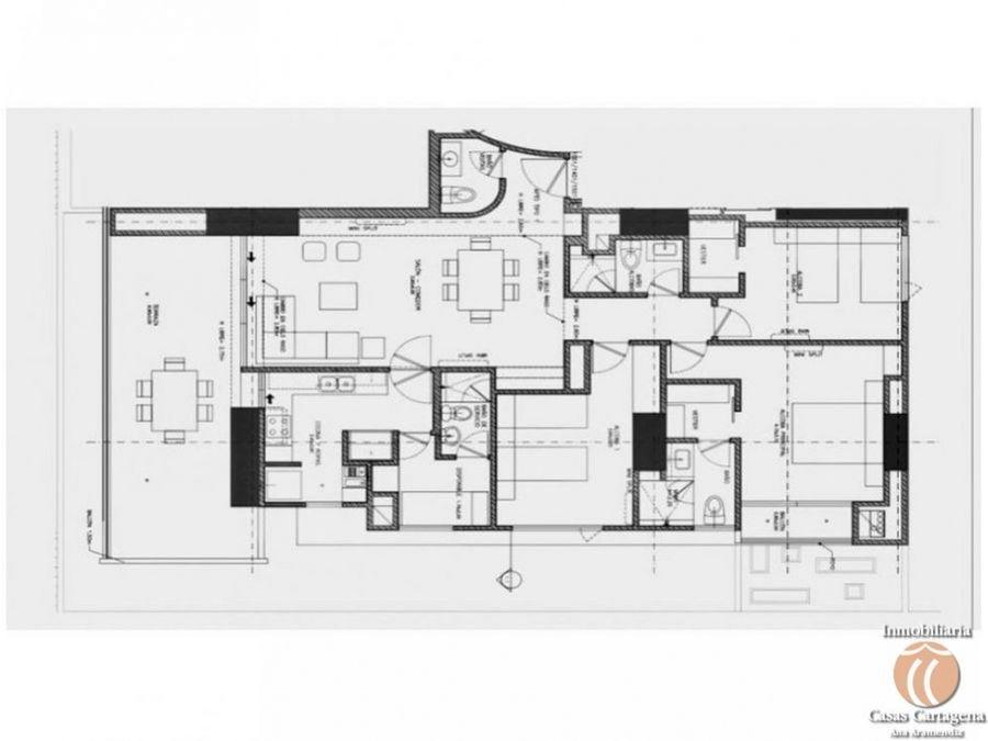 venta apartamento 3 alcobas manga edificio nuevo