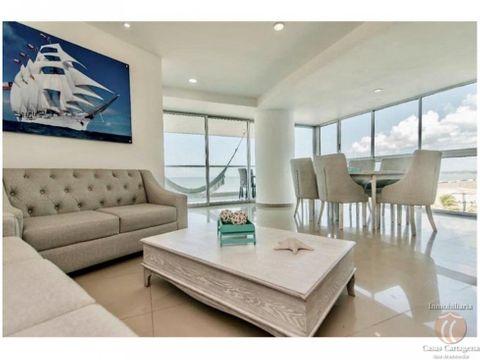 venta apartamento 3 alcobas frente mar cartagena
