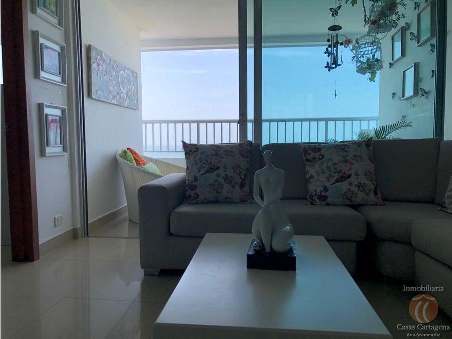 venta apartamento palemtto 2 alcobas vista al mar bocagrande