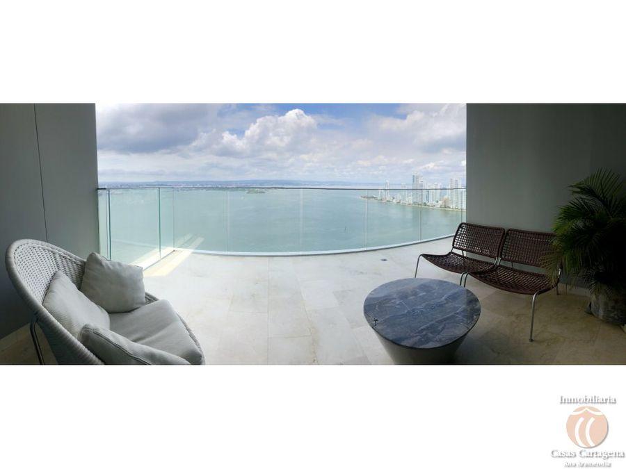 venta apartamento parke 475 vista bahia bocagrande cartagena