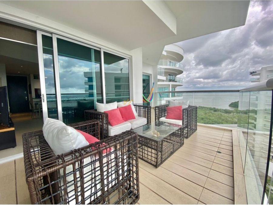 en venta apartamento amoblado en murano beach