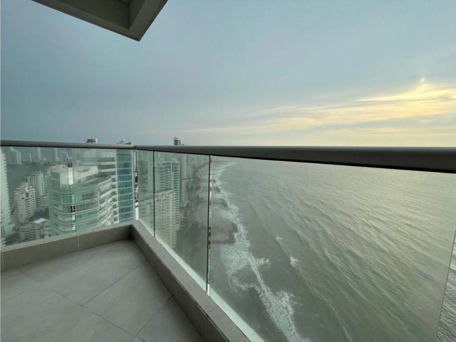 apartamento en venta en bocagrande frente al mar