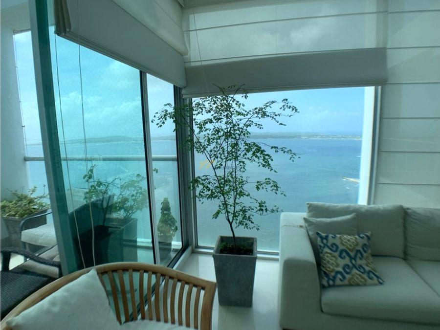 en venta apartamento frente al mar castillogrande
