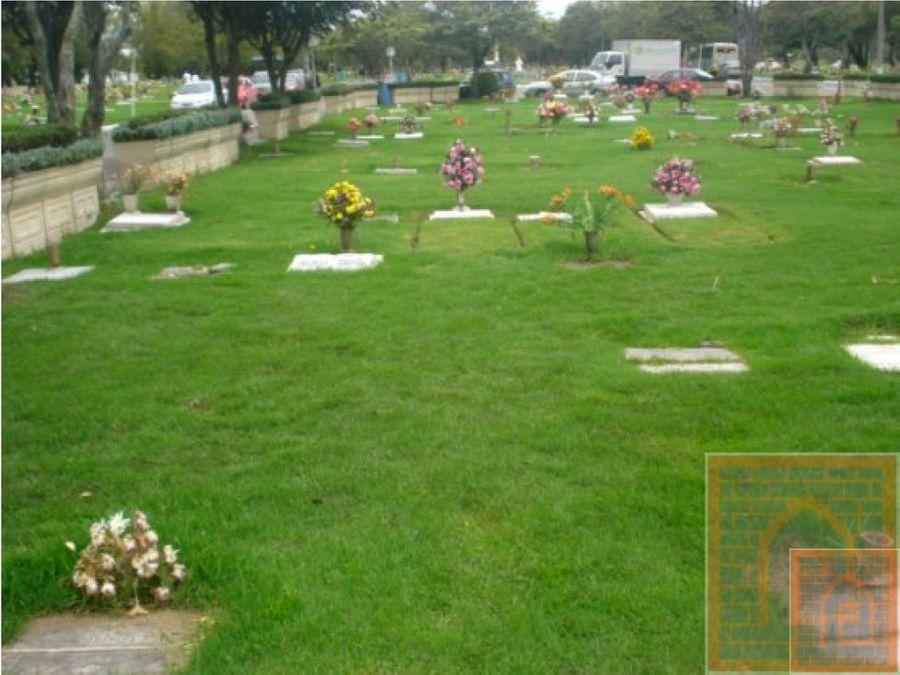 se vende lote cementerio jardines la paz bogota