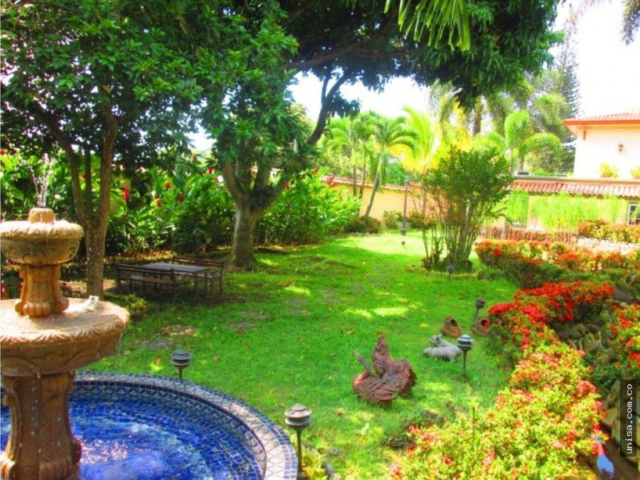 espectacular casa campestre para la venta en ciudad jardin 7280