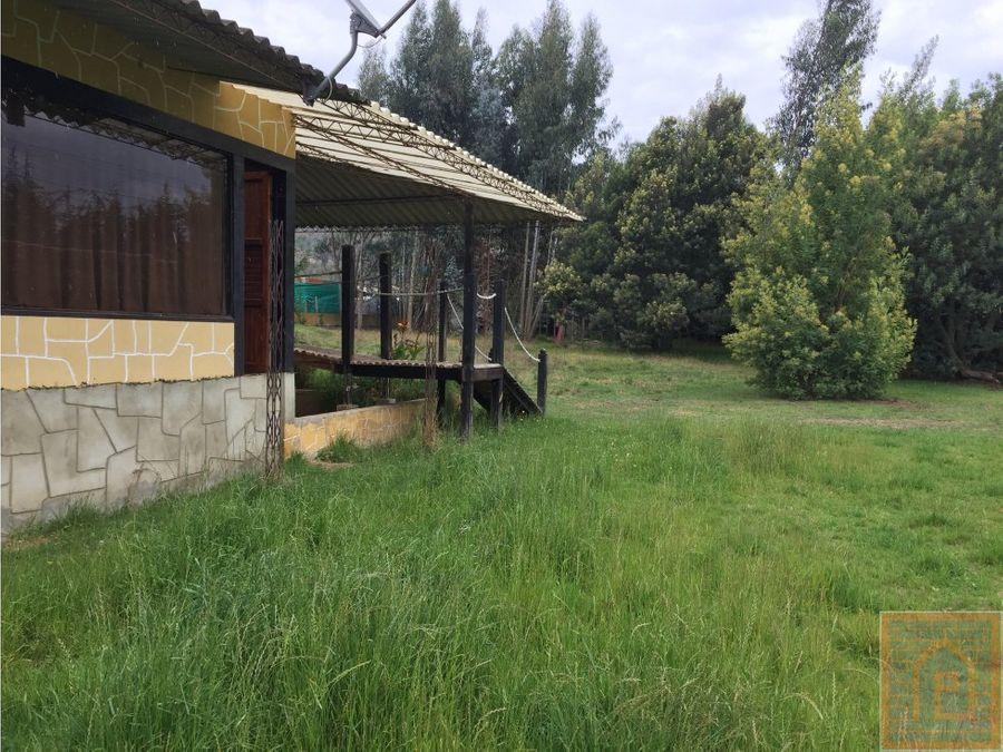 se vende casa lote en suesca cundinamarca