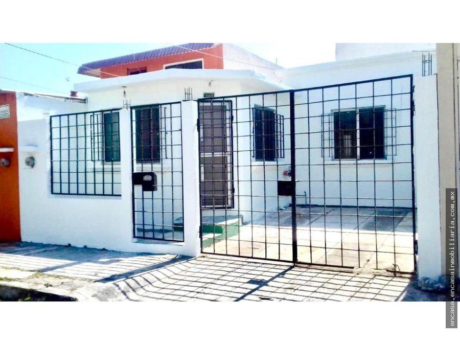 casa en venta en veracruz en fraccionamiento villa rica norte