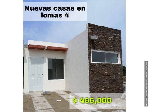 casa nueva en venta veracruz fraccionamiento lomas 4