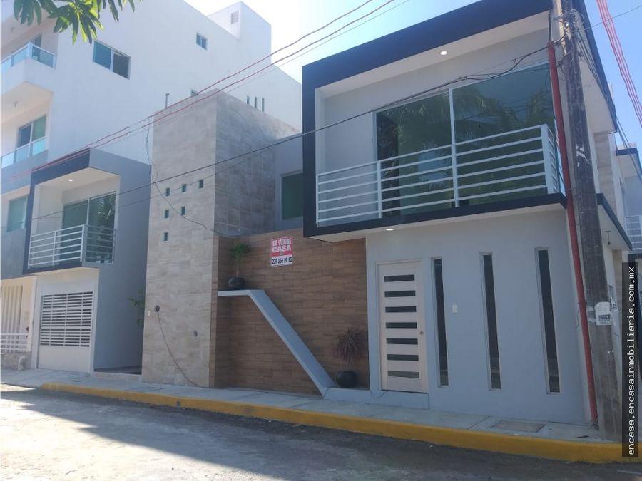 casa nueva en venta en boca del rio colonia rio jamapa