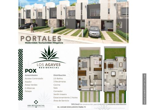los agaves residencial modelo portales