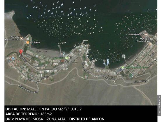 venta de terreno en ancon playa hermosa area de terreno 285m2