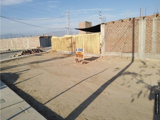 venta de terreno en ica area 105m2 urb las haras