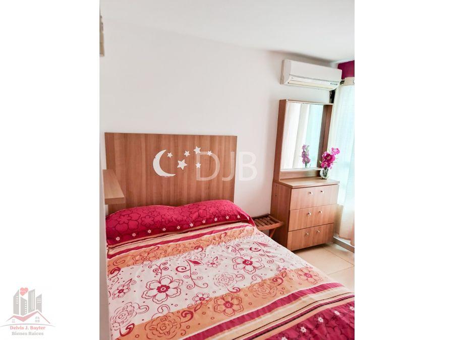 apartamento amoblado en carrasquilla 80 m2 800 258