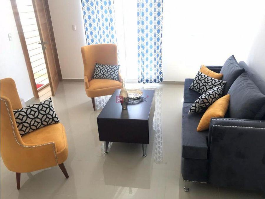 apartamento amueblado con piscina en gurabo