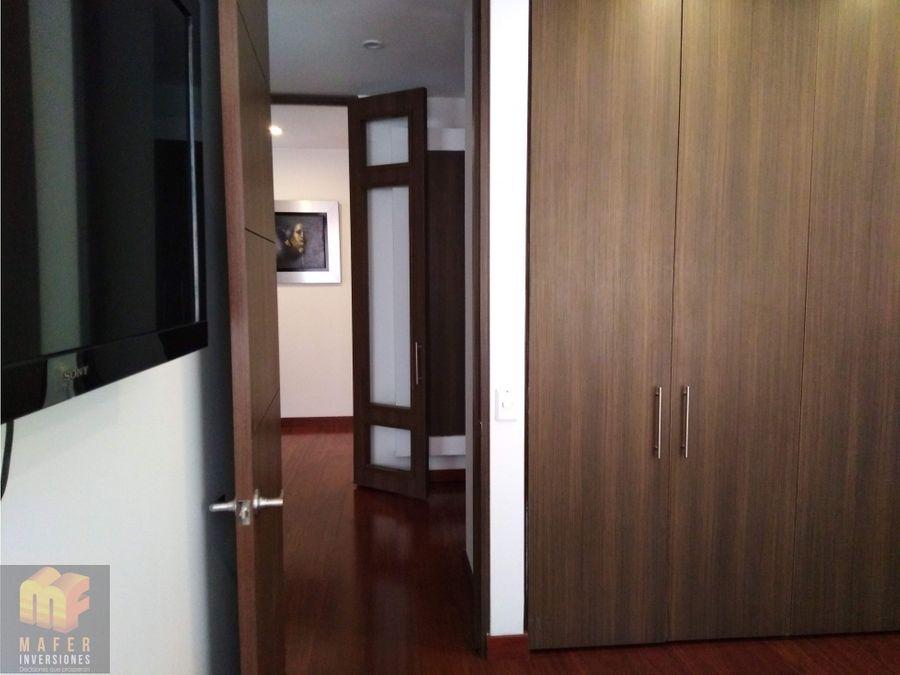 arriendo apartamento amoblado santa barbara mf081