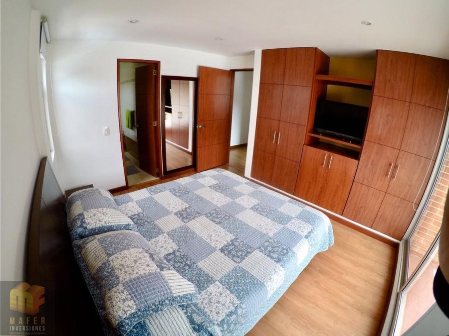 arriendo apartamento con o sin muebles santa barbara mf48