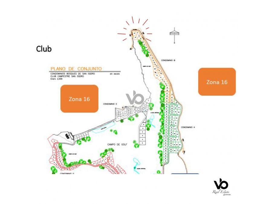 terreno en club de golf san isidro zona 16