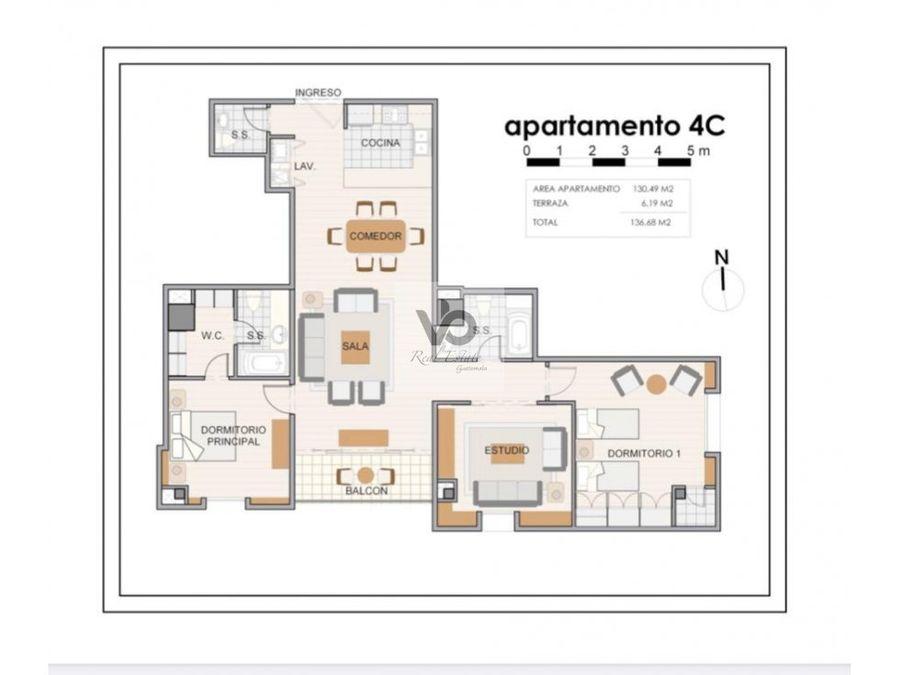 apartamento edificio alandra zona 10