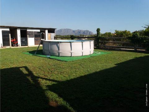 venta casa de campo en pedreguer