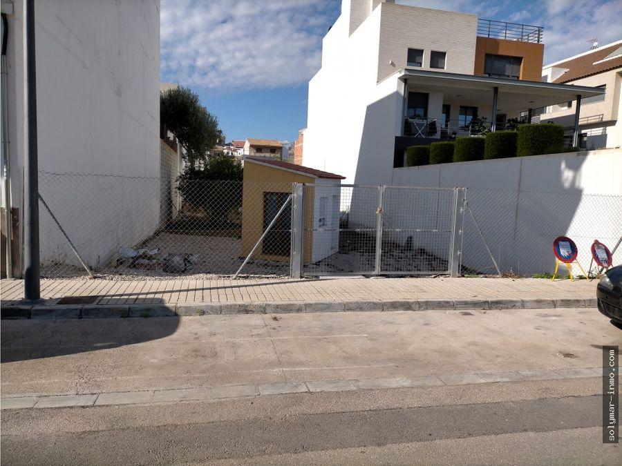 venta parcela urbana en ondara