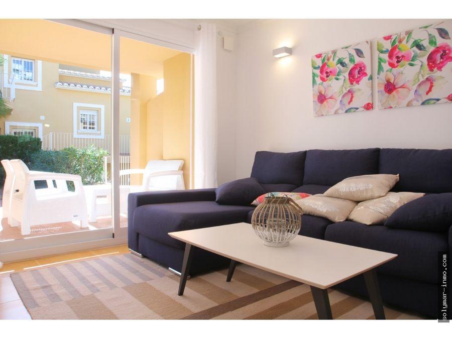 venta apartamento adosado en benitachell