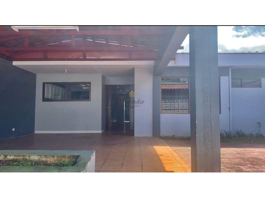 alquiler casa independiente de 1 nivel sabanilla montes de oca