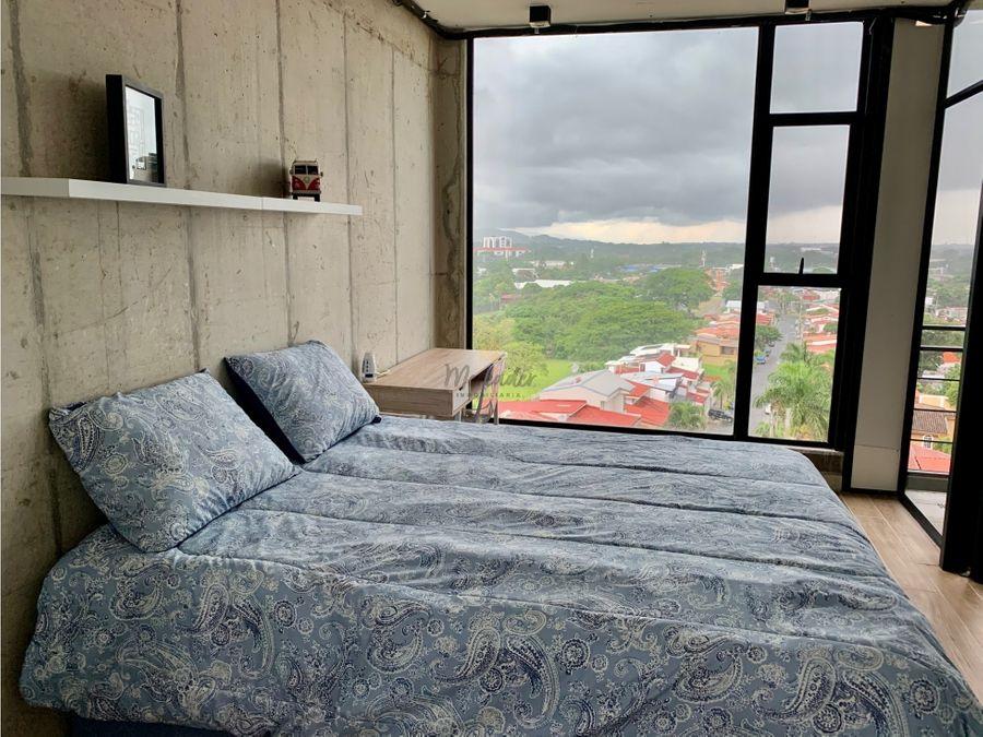alquiler opcion de compra apartamento en condominio pozos santa ana