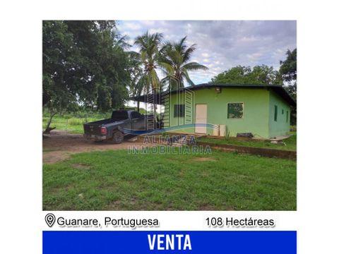 finca de 108 hectareas en guanare edo portuguesa