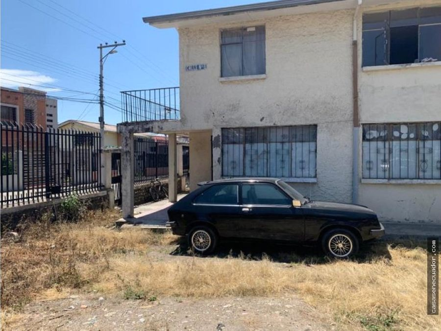 vendo terreno con casa vieja en la ciudadela calderon
