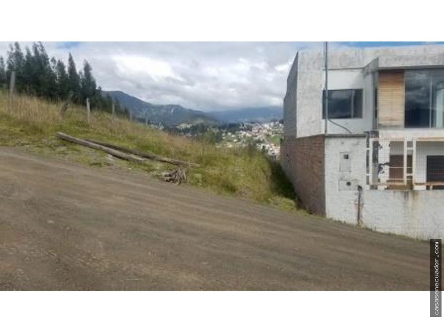 vendo sitio de 302 metros en banos colegio borja 63000 negociables