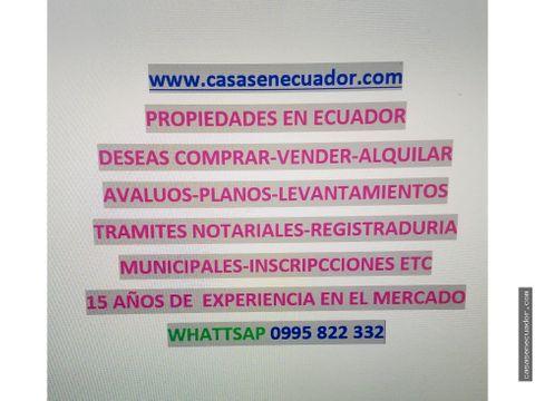 compra venta avaluos de propiedades en ecuador