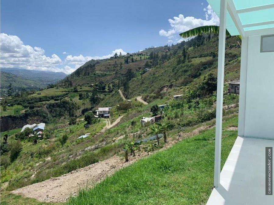 vendo hermosa quinta con 1800 mts en paute sector la higuera