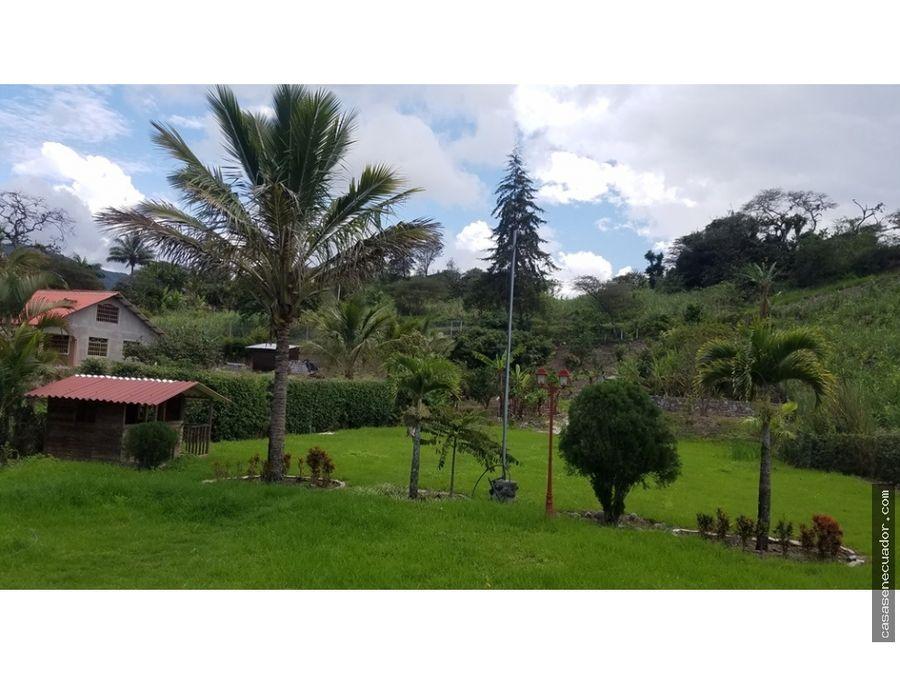 vendo hermosa quinta en lentag yunguilla precio 168900 neg