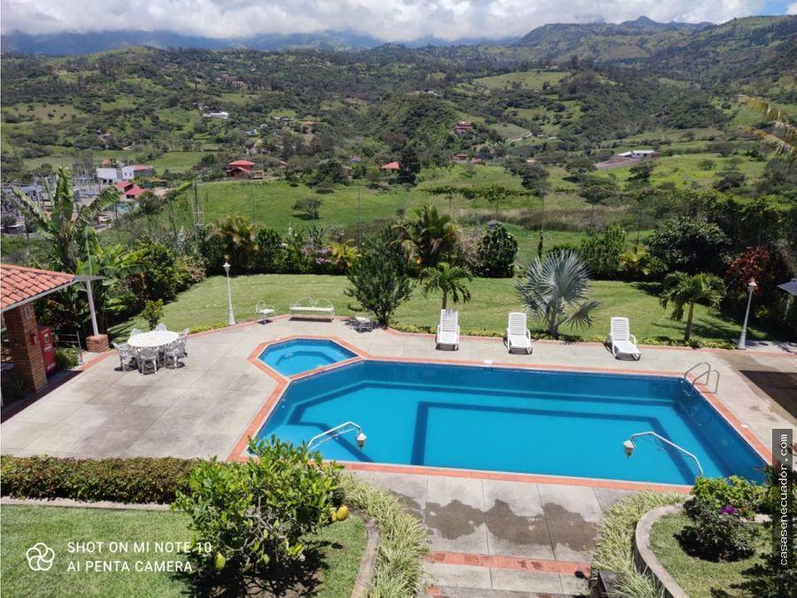 vendo quinta con piscina en yunguilla lentag 310000 neg
