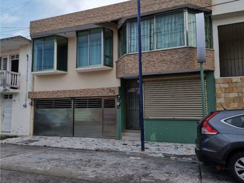 casa con local comercial en venta en fracc reforma veracruz