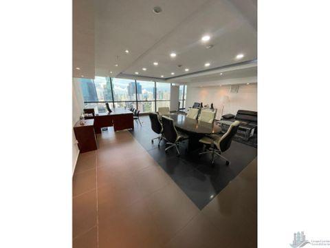 oficina en calle 50 amplia y amoblada de lujo towerbank