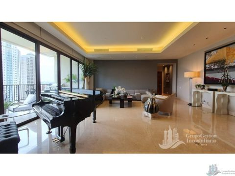 apartamento full amoblado de lujo 386m2 en santa maria court 3 rec