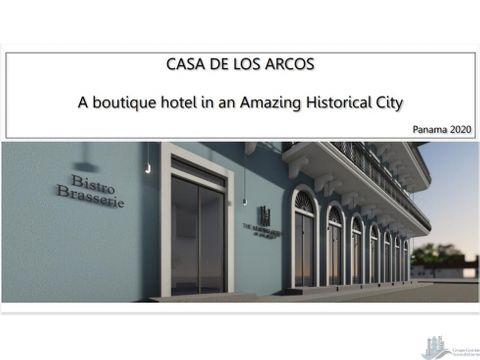 proyecto casa de los arcos boutique hotel