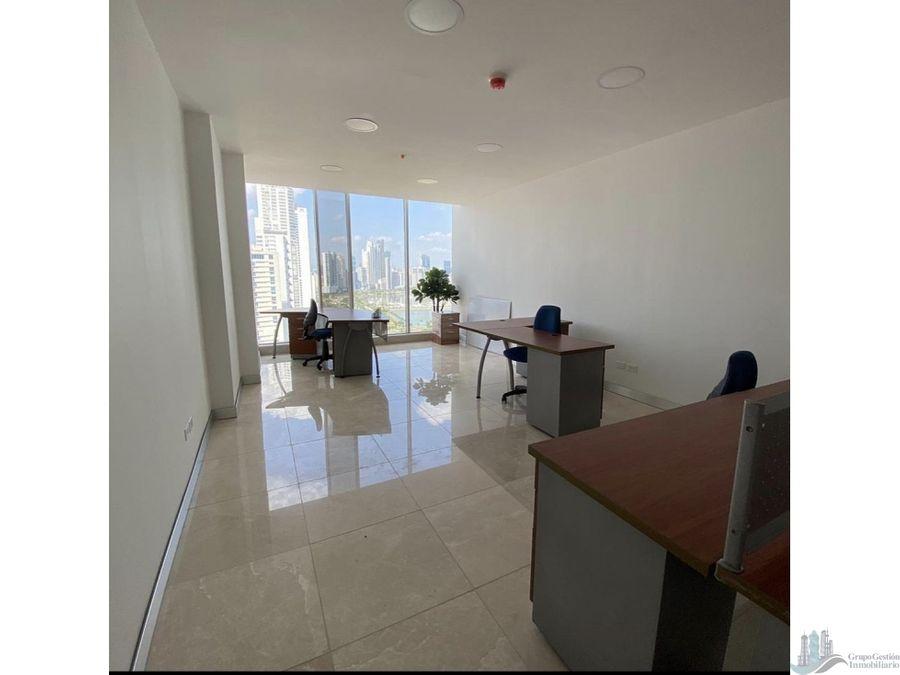 oficina amoblada 50 mts2 en avenida balboa torre balboa office center