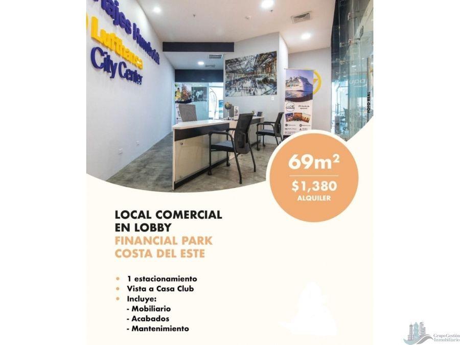 oficina 69 m2 mtto incluido financial park